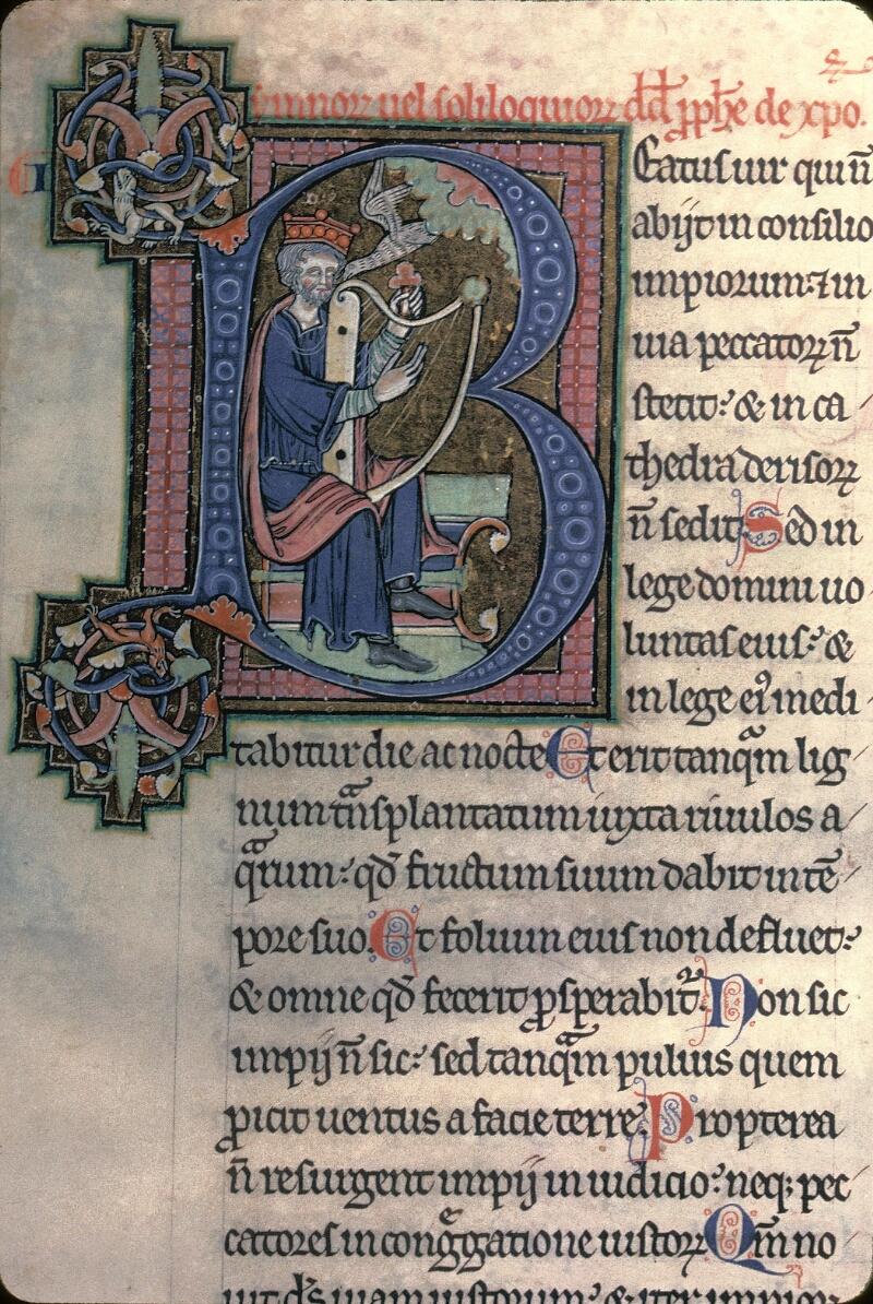 Avranches, Bibl. mun., ms. 0003, f. 003 - vue 1