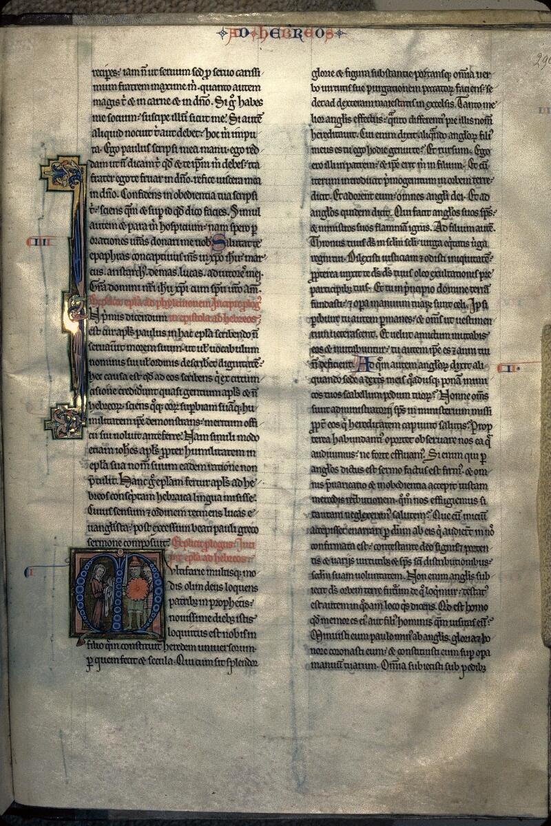Avranches, Bibl. mun., ms. 0003, f. 296 - vue 1