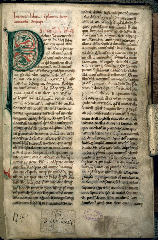 Avranches, Bibl. mun., ms. 0062, p. 001