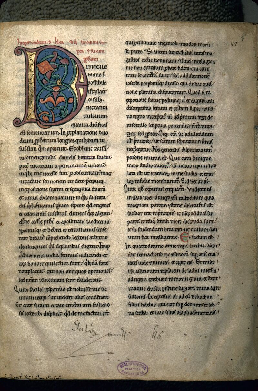 Avranches, Bibl. mun., ms. 0069, f. 001