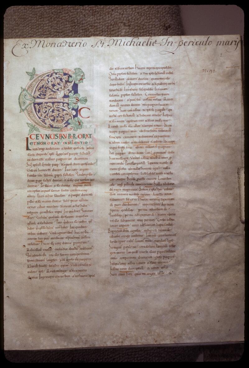 Avranches, Bibl. mun., ms. 0077, f. 002 - vue 1