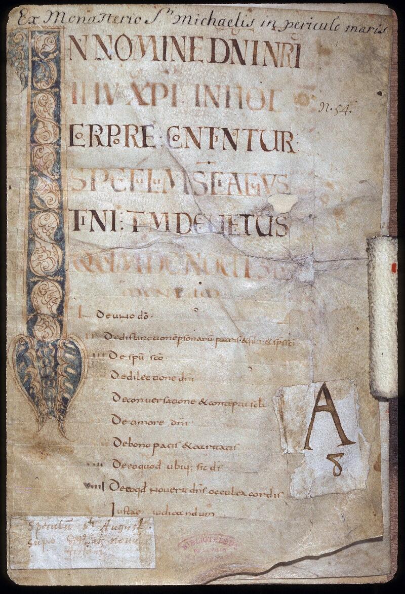 Avranches, Bibl. mun., ms. 0087, f. 001