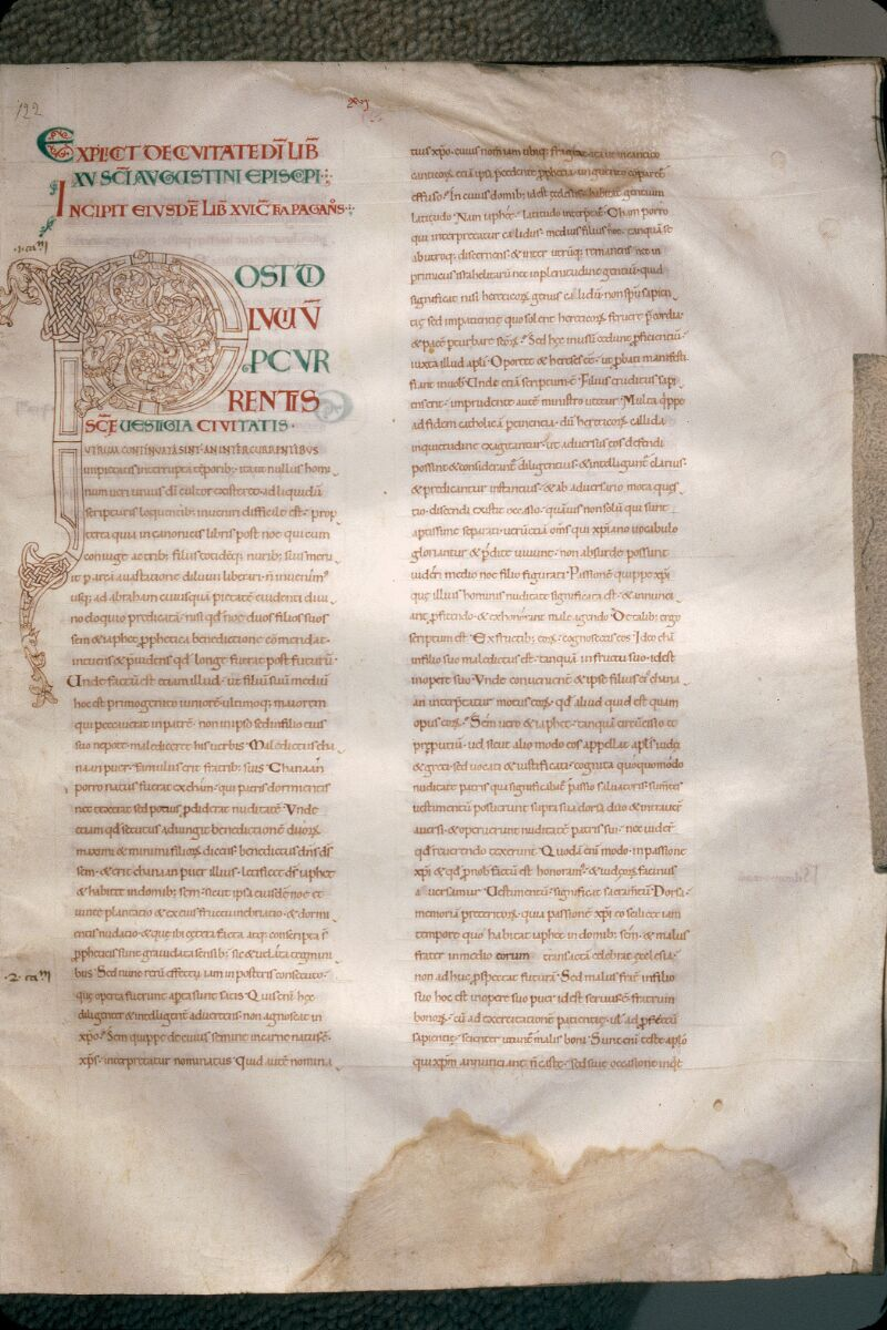 Avranches, Bibl. mun., ms. 0089, f. 122 - vue 1