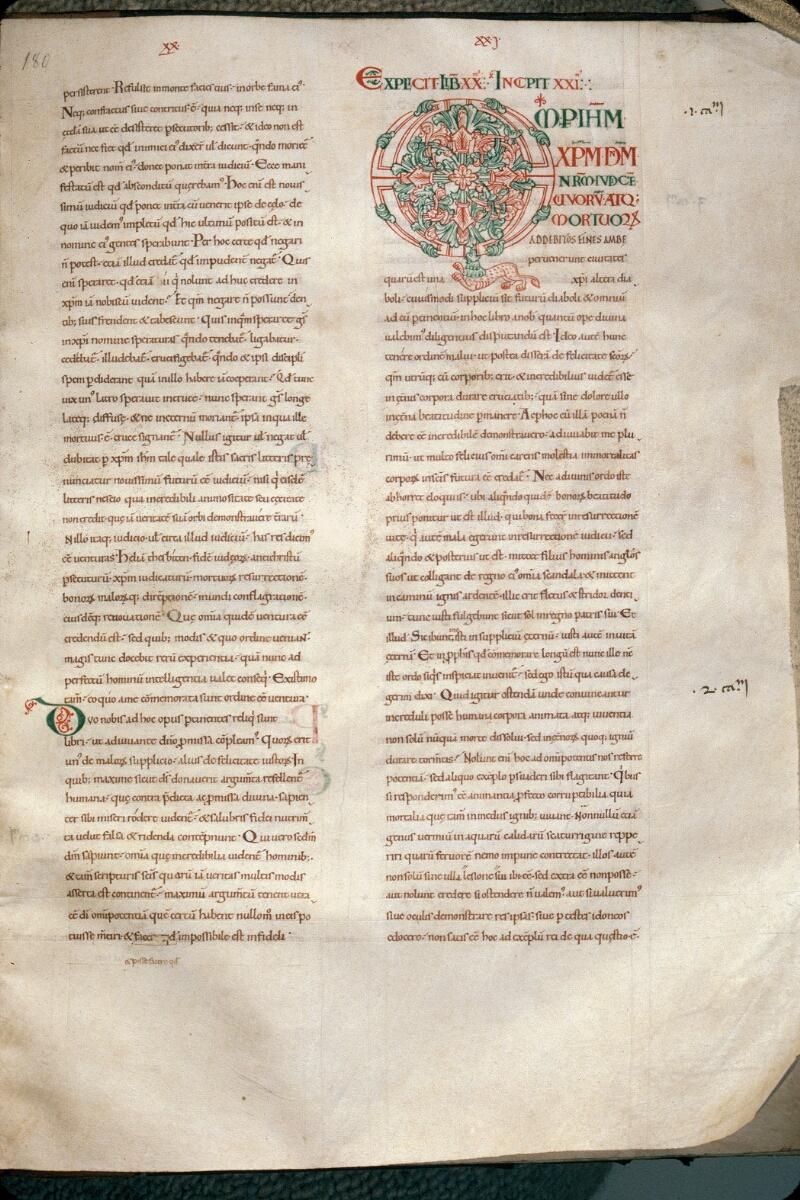 Avranches, Bibl. mun., ms. 0089, f. 180 - vue 1