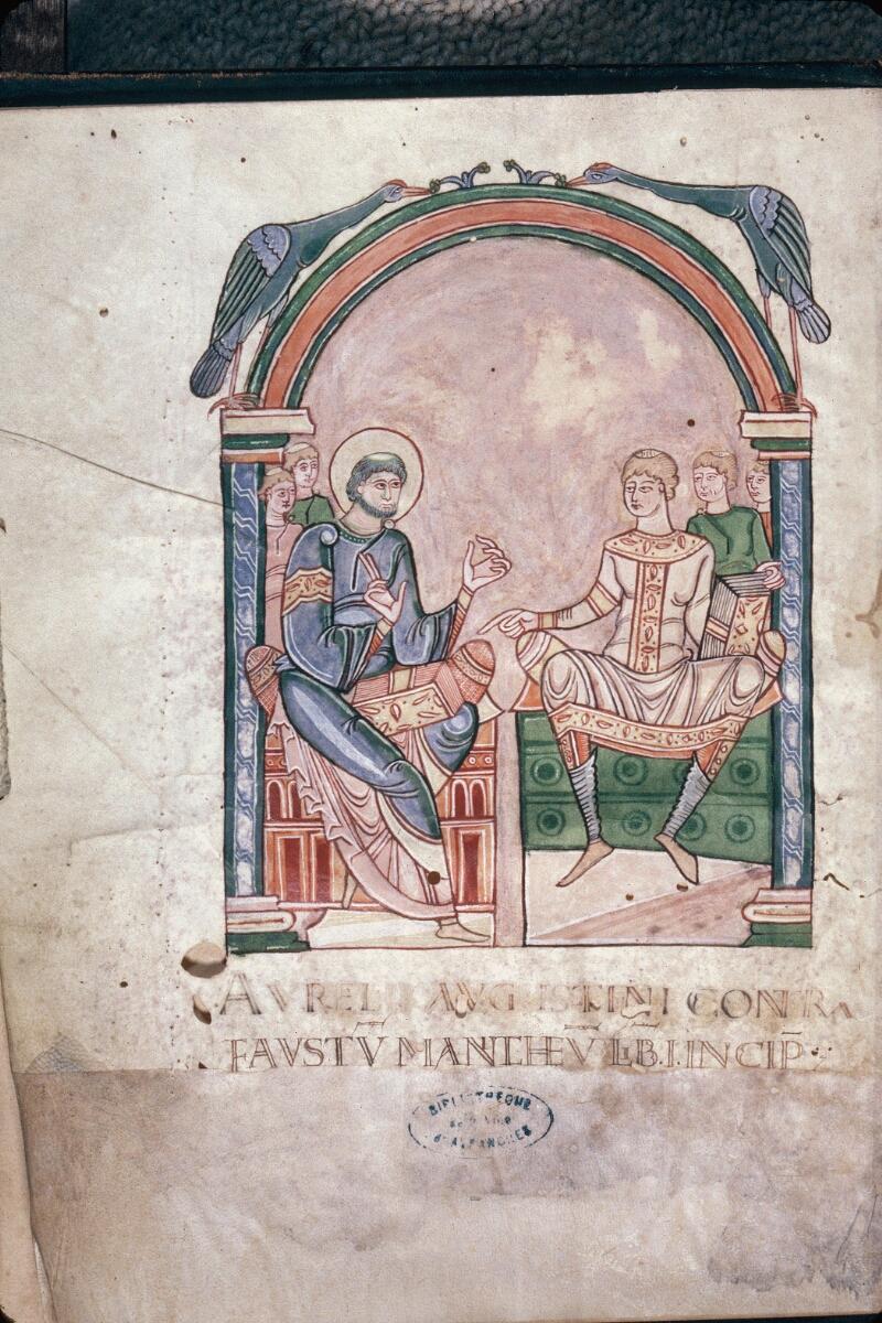 Avranches, Bibl. mun., ms. 0090, f. 001v - vue 1
