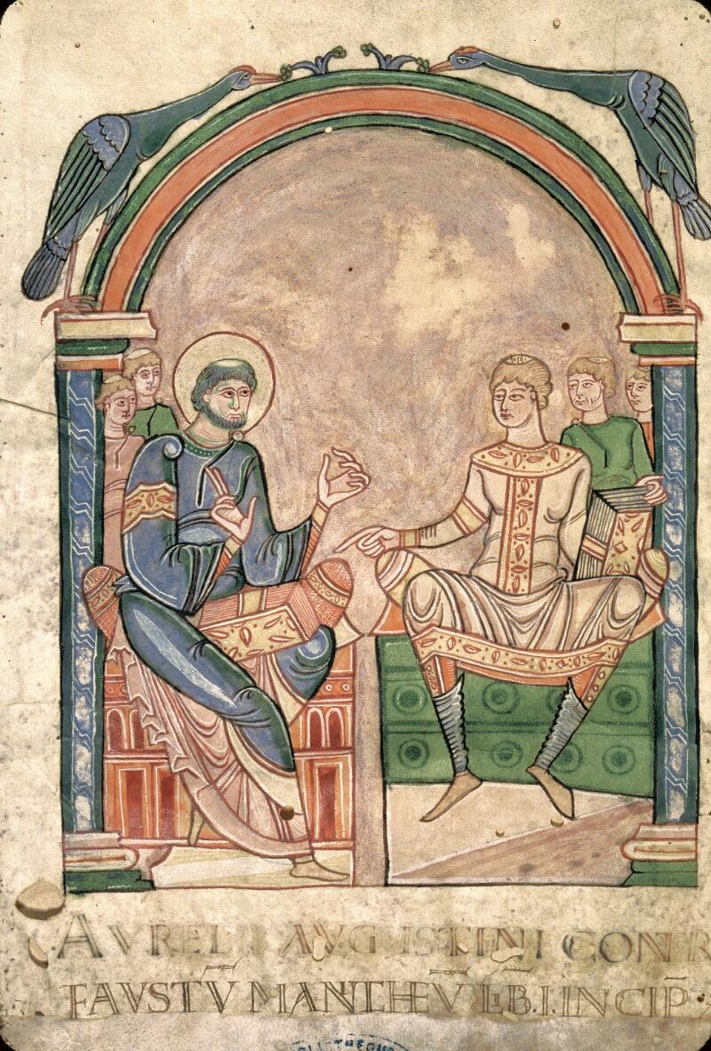Avranches, Bibl. mun., ms. 0090, f. 001v - vue 2