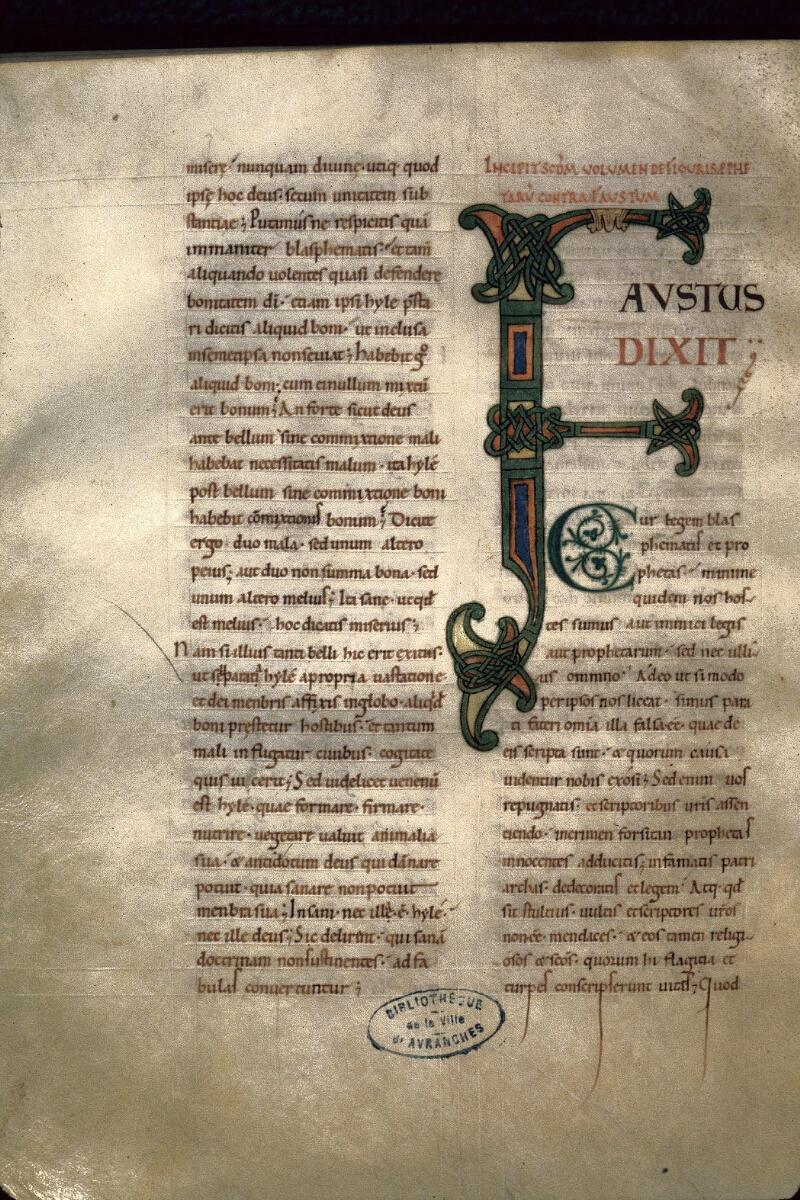 Avranches, Bibl. mun., ms. 0090, f. 115v