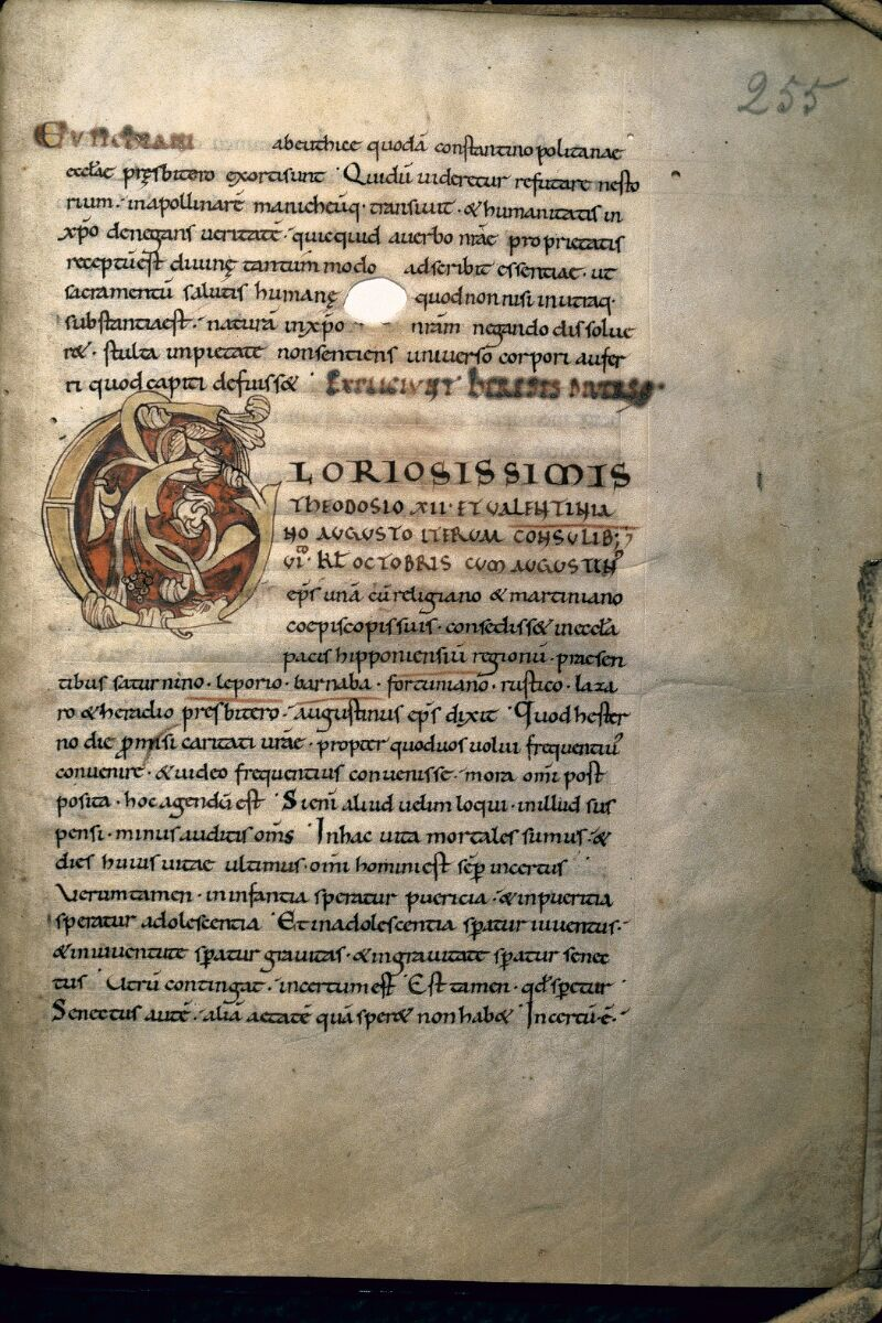 Avranches, Bibl. mun., ms. 0091, f. 255