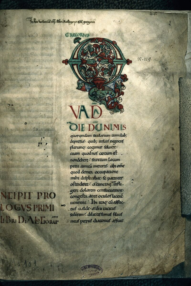 Avranches, Bibl. mun., ms. 0101, f. 002 - vue 1