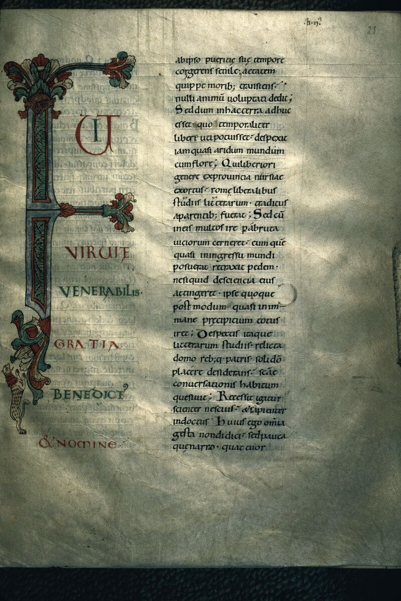 Avranches, Bibl. mun., ms. 0101, f. 023 - vue 1