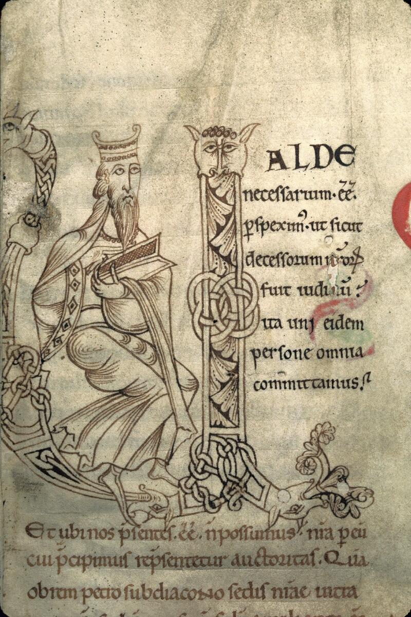 Avranches, Bibl. mun., ms. 0102, f. 001 - vue 2