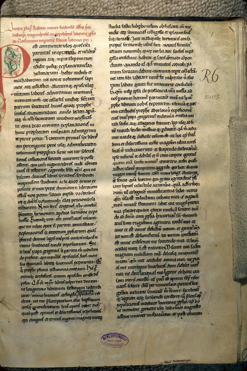 Avranches, Bibl. mun., ms. 0113, f. 001