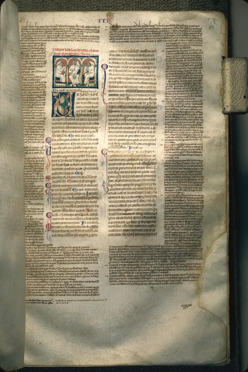 Avranches, Bibl. mun., ms. 0150, f. 113 - vue 1