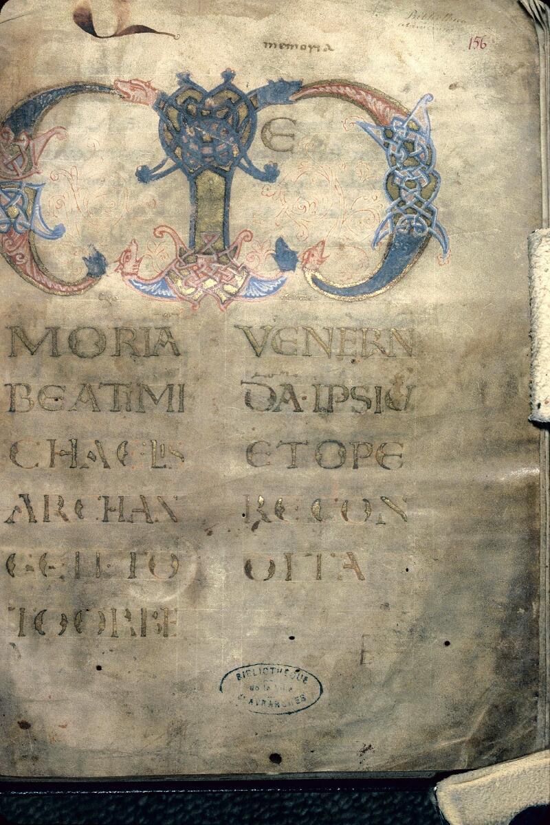 Avranches, Bibl. mun., ms. 0211, f. 156 - vue 1