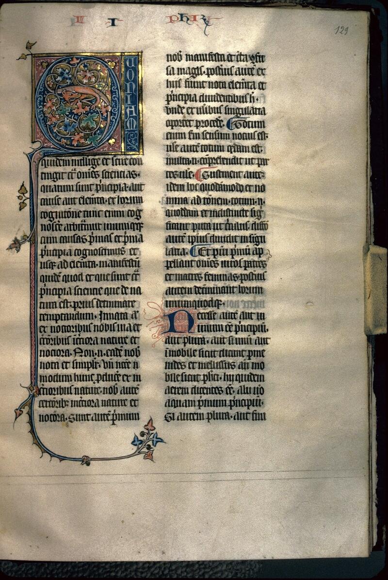 Avranches, Bibl. mun., ms. 0231, f. 129 - vue 1