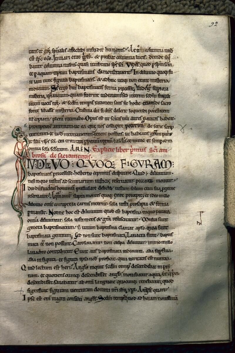 Avranches, Bibl. mun., ms. 0241, f. 092 - vue 1