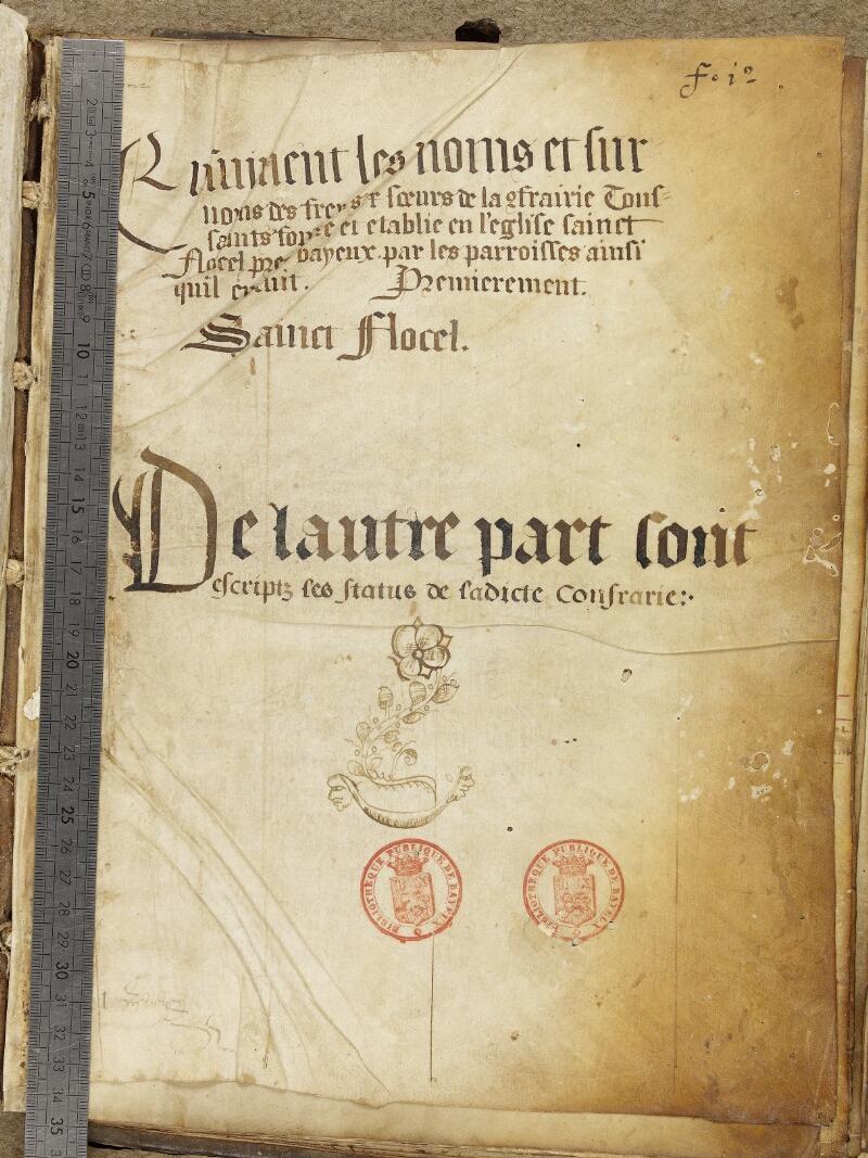 Bayeux, Bibl. mun., ms. 0005, A f. 001 - vue 1