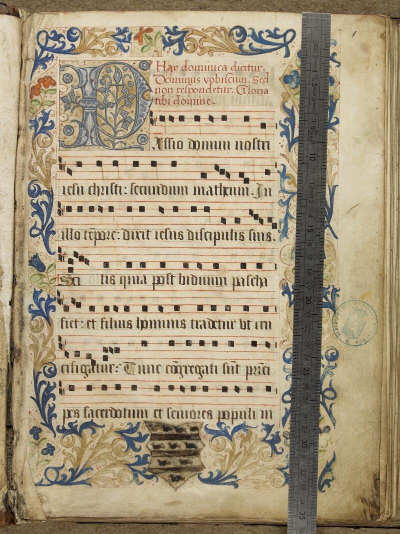 Bayeux, Bibl. mun., ms. 0008, f. 001 - vue 1