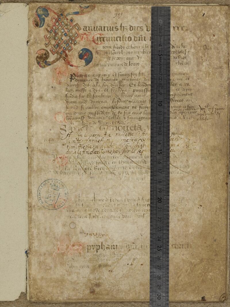 Bayeux, Bibl. mun., ms. 0096, f. 001 - vue 1