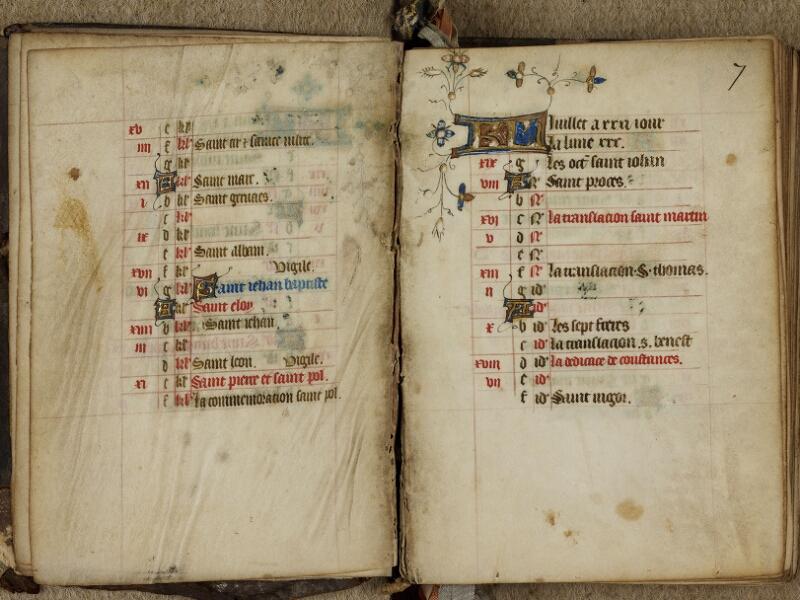 Bayeux, Bibl. mun., ms. 0183, f. 006v-007 - vue 2