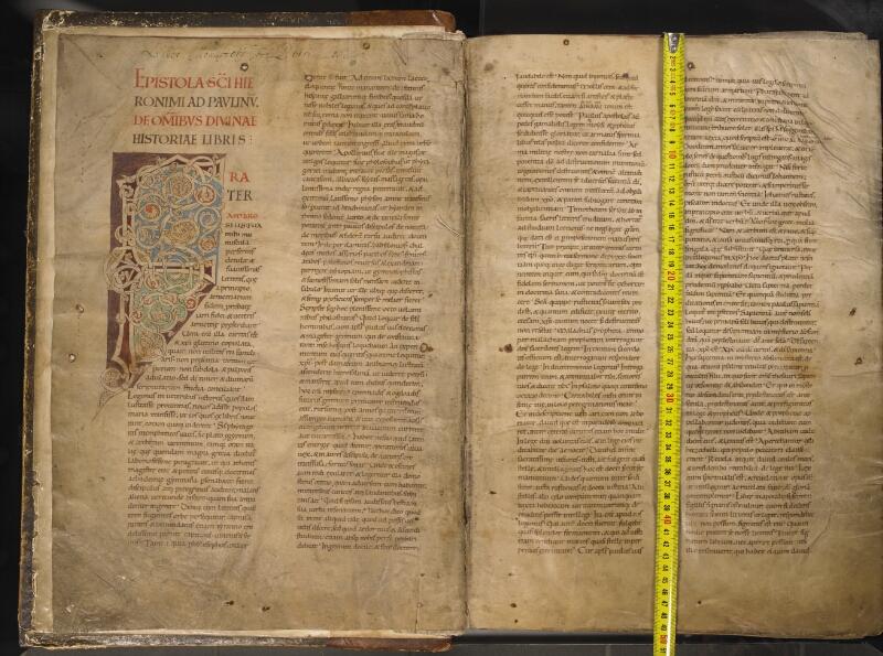 TOURNAI, Bibliothèque du Séminaire, 001, f. 001v - 002 avec réglet