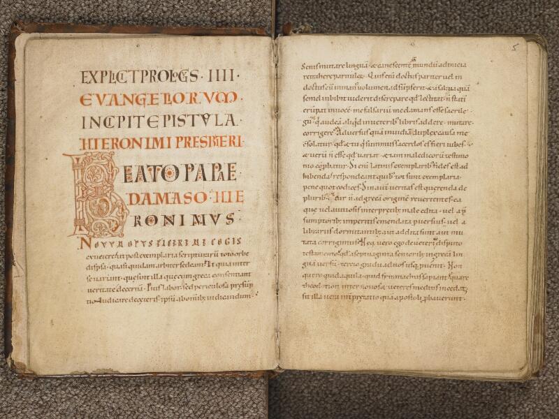 TOURNAI, Bibliothèque du Séminaire, 002, f. 004v - 005