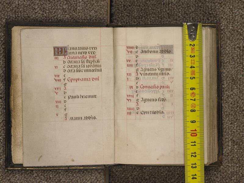 TOURNAI, Bibliothèque du Séminaire, 016, f. 002v - 003 avec réglet