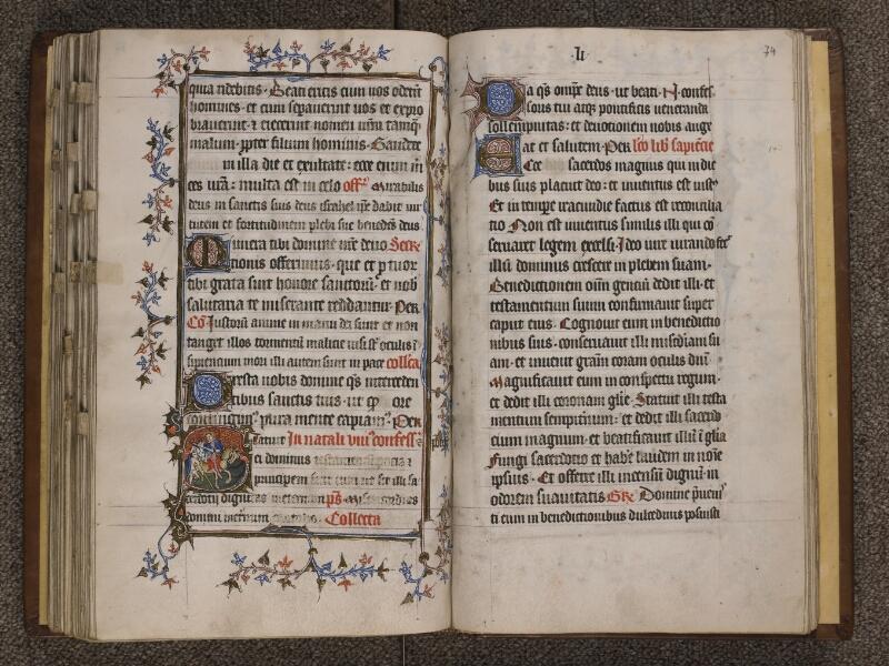 TOURNAI, Bibliothèque du Séminaire, 023, f. 073v - 074