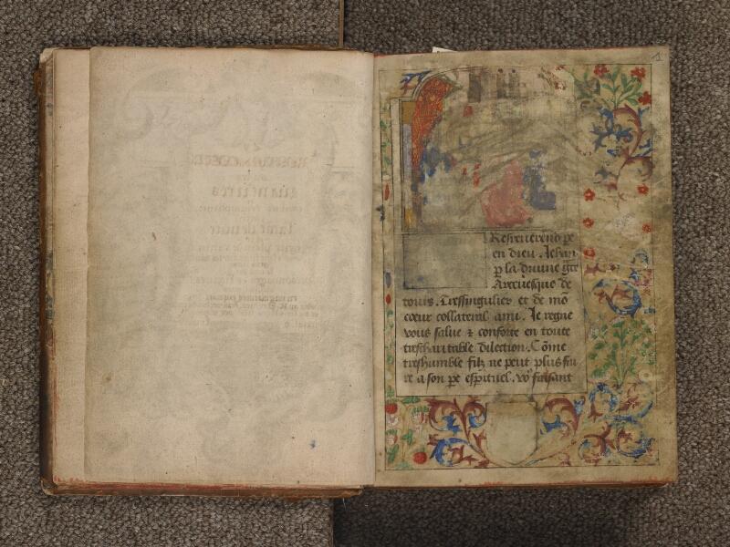 TOURNAI, Bibliothèque du Séminaire, 042, garde verso - f. 001