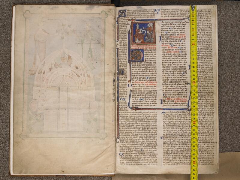 TOURNAI, Bibliothèque du Séminaire, BE 006, f. 002v - 003 avec réglet