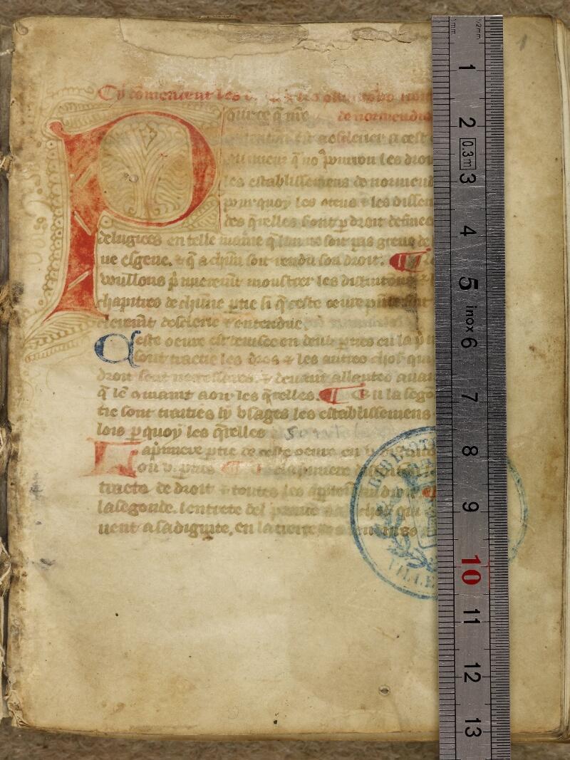 Caen, Bibl. mun., ms. 0055, f. 001- vue 1