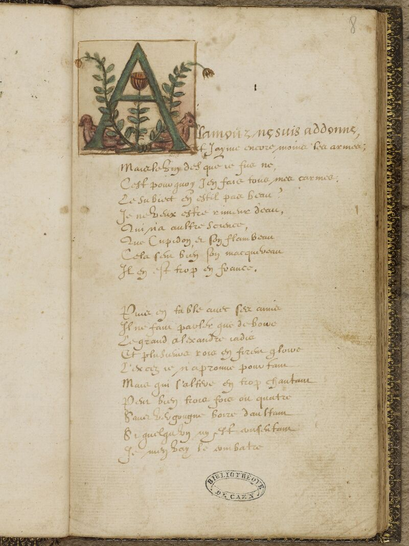 Caen, Bibl. mun., ms. 0207, f. 008 - vue 2