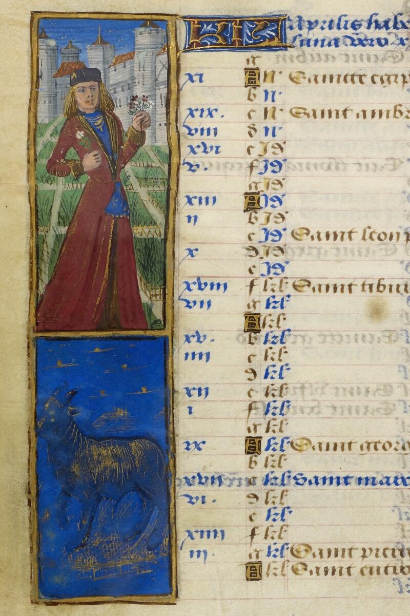 Caen, Bibl. mun., ms. 0012, f. 002v - vue 2