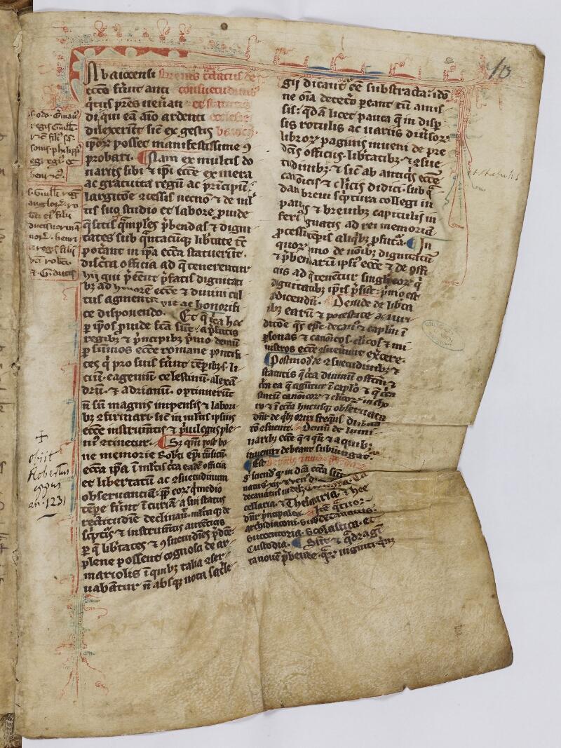Caen, Musée, Coll. Mancel ms. 0086, f. 010 - vue 2