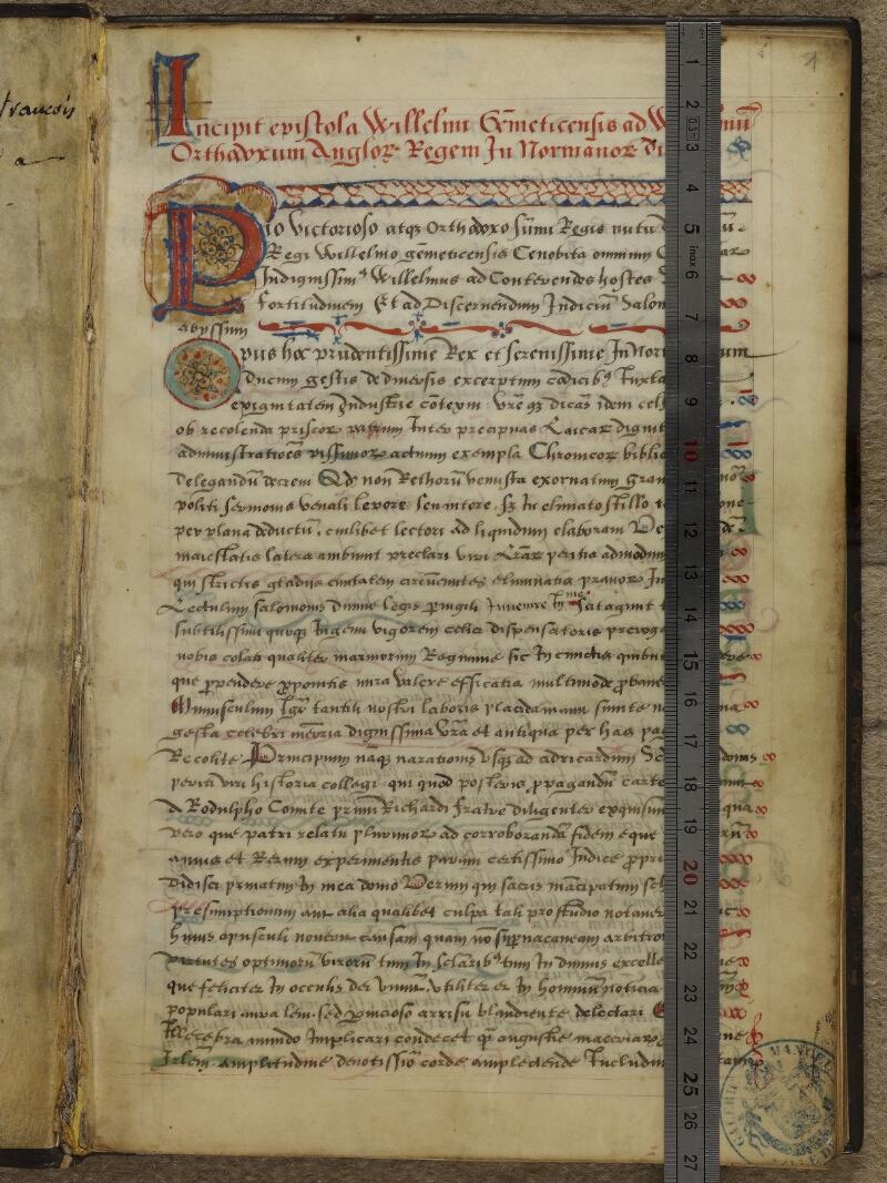 Caen, Musée, Coll. Mancel ms. 0145, f. 001 - vue 1