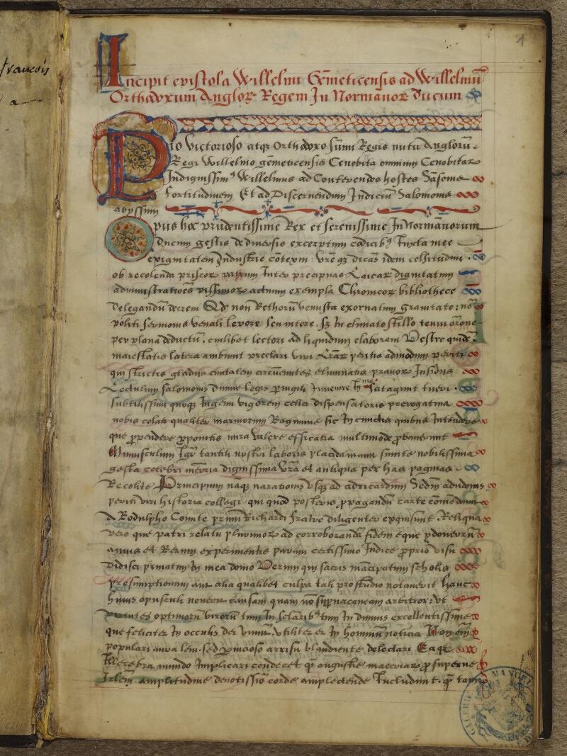 Caen, Musée, Coll. Mancel ms. 0145, f. 001 - vue 2