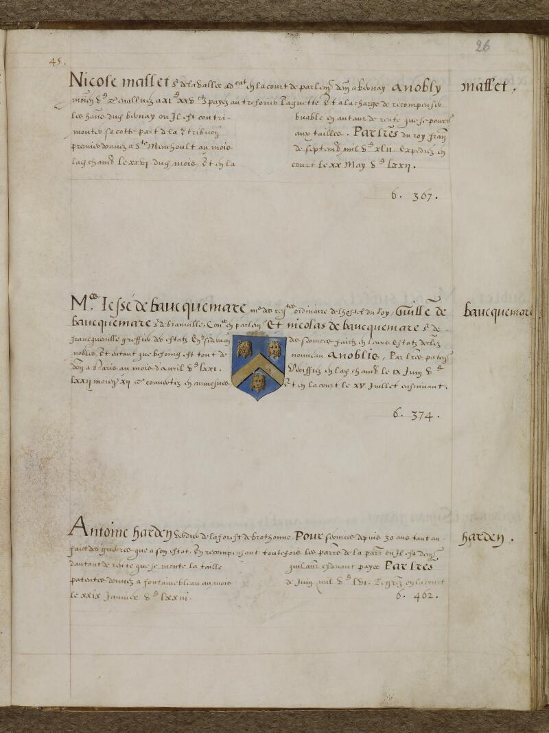 Caen, Musée, Coll. Mancel ms. 0156, f. 026