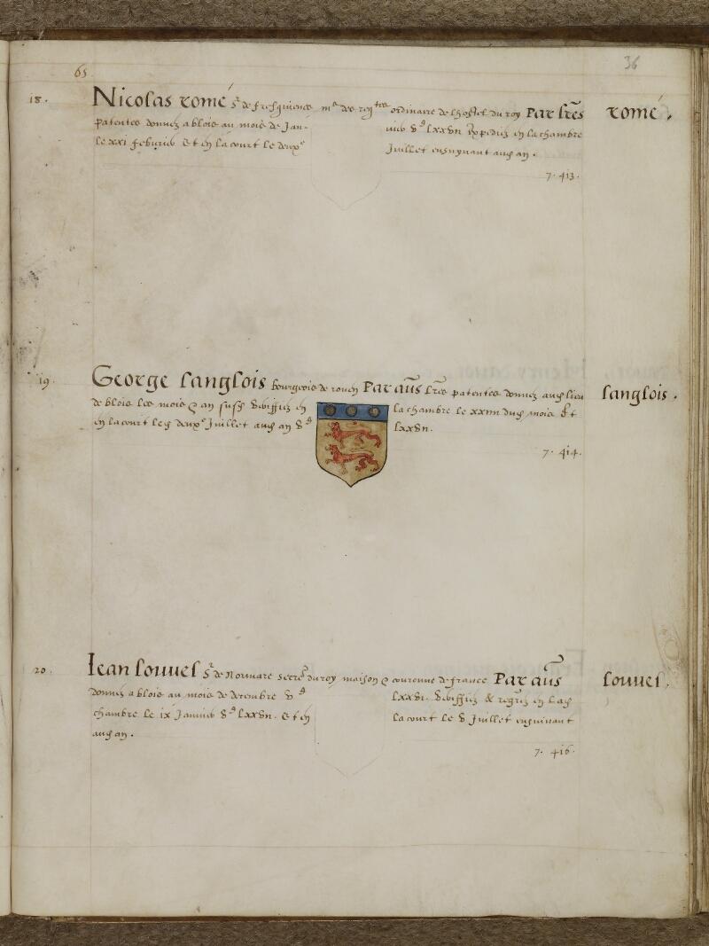 Caen, Musée, Coll. Mancel ms. 0156, f. 036