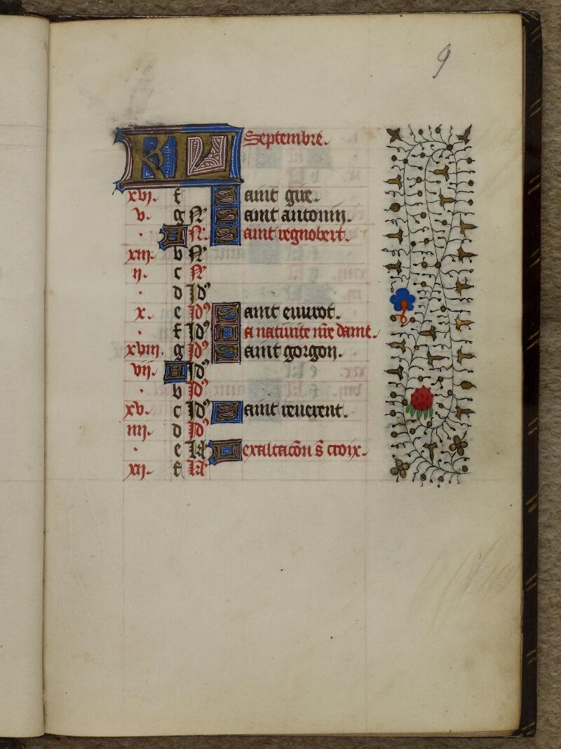 Caen, Musée, Coll. Mancel ms. 0239, f. 009