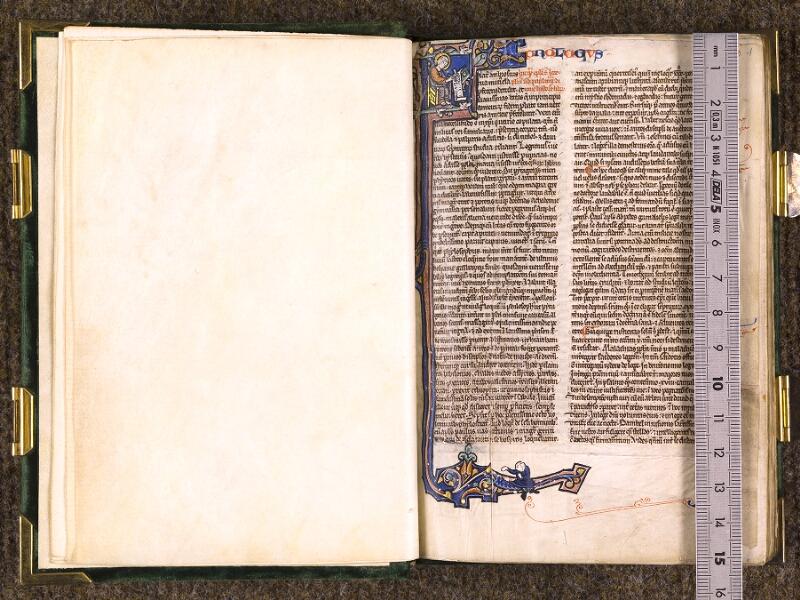 CHANTILLY, Bibliothèque du château, 0001 (1365), f. 000Cv - 001  avec réglet