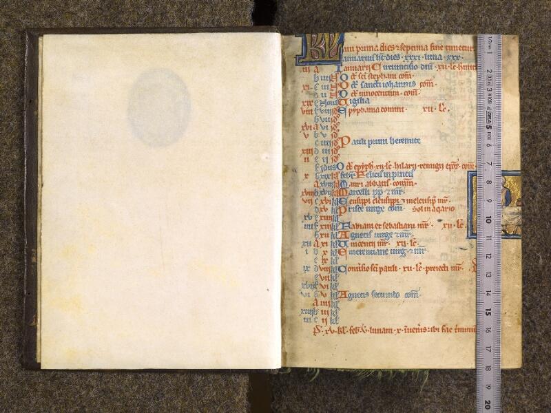 CHANTILLY, Bibliothèque du château, 0010 (1453), f. 000A - f. 001 avec réglet