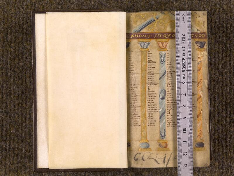 CHANTILLY, Bibliothèque du château, 0015 (1326), f. 000Av - 001  avec réglet