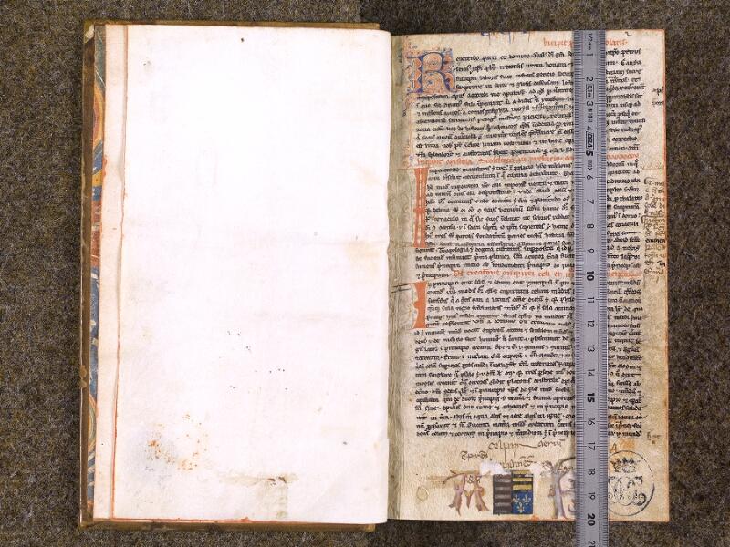 CHANTILLY, Bibliothèque du château, 0022 (0994), f. 001v - 002  avec réglet