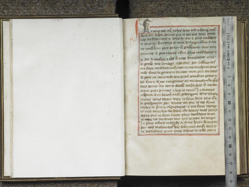 CHANTILLY, Bibliothèque du château, 0027 (1079), f. 001v - 002 avec réglet