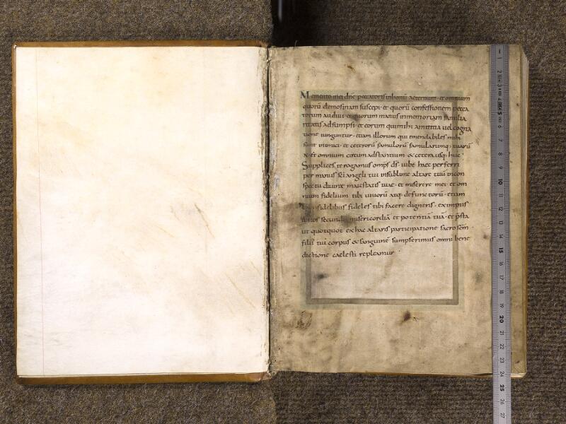CHANTILLY, Bibliothèque du château, 0040 (1447), contregarde – f. 001 avec réglet