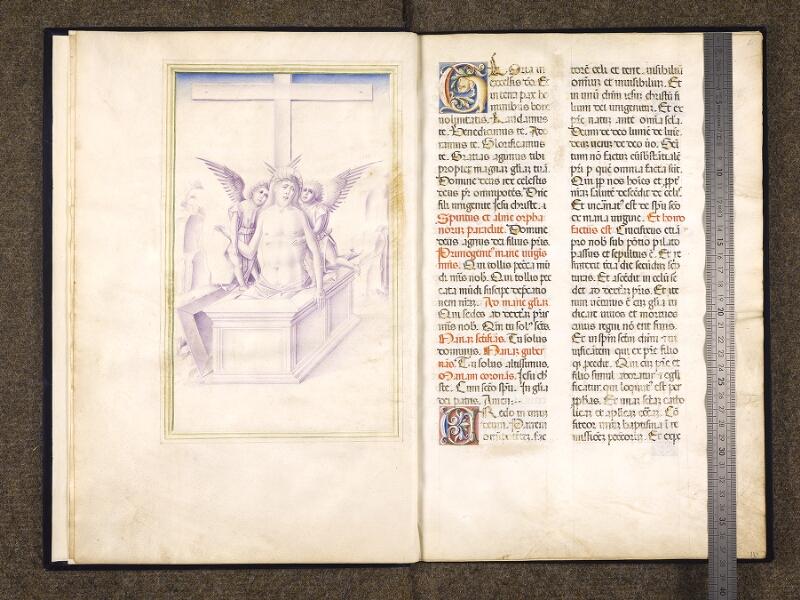 CHANTILLY, Bibliothèque du château, 0045 (1422), f. 001v - 002 avec réglet