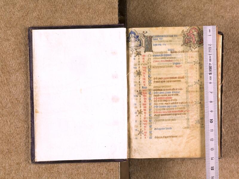 CHANTILLY, Bibliothèque du château, 0051 (1887), contregarde - f. 001 avec réglet