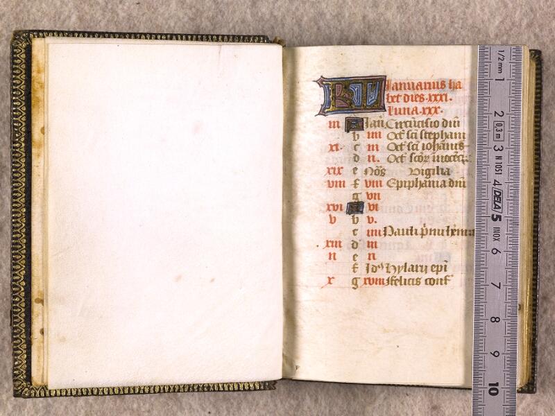 CHANTILLY, Bibliothèque du château, 0063 (1366), f. 000Bv - 001 avec réglet