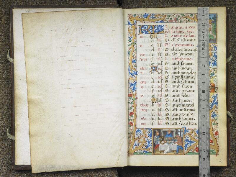 CHANTILLY, Bibliothèque du château, 0081 (1057), f. 001v - 002 avec réglet