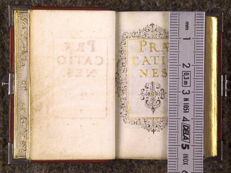 CHANTILLY, Bibliothèque du château, 0103 (1372), f. 000Bv - 001 avec réglet